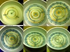 Painting on notfired glaze - my majolica