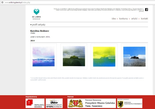 """My screenprint works shown on """"Exlibris"""" in Opatów Castle in Gdańsk on post-competition exhibition of International Competition of Exlibris and Small Graphic Form """"Secrets of Cold Sea"""". http://www.exlibrisgdansk.pl/index.php?s=artysta&id=573"""
