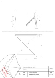 Technical drawing for plaster model - rysunek techniczny pod gipsowy model