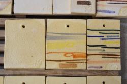 "6. Próbki / probes ""19,20,21"" – 1200-1260°C A smooth clear glaze Skaleń/ Feldspar 38 Kreda/ Whiting 15 Węglan baru / Barium carbonate 7 Tlenek cynku/ Zinc Oxide 4 Kwarc/ Flint 23 Kaolin/ China Clay 13"