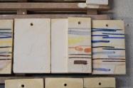 """9. Próbki / probes """"28,29,30,38"""" – 1200-1260°C Matt white Skaleń/ Feldspar 45 Kreda/ Whiting 18 Tlenek cynku/ Zinc Oxide 10 Kwarc/ Flint 9 Kaolin/ China Clay 18"""