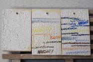 "10. Próbki / probes ""31,32,33"" – 1200-1260°C Smooth opaque white Skaleń/ Feldspar 35 Kreda/ Whiting 12 Tlenek cynku/ Zinc Oxide 20 Kwarc/ Flint 8 Kaolin/ China Clay 25"