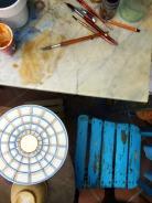 Painting not fired glaze / malowanie na niewypalonej warstwie szkliwia