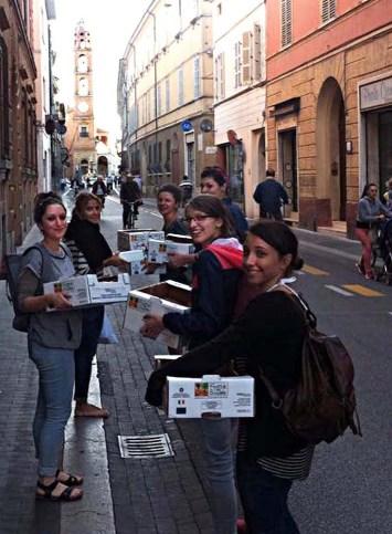 Thru the main square on the way to the kiln. Photo by Mattia Fregola