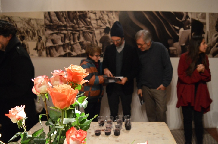 Jonathan with exhibition curator Guido Moliari
