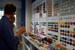 Choosing colours for ceramics