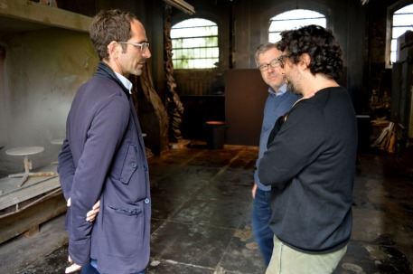 with exhibition curator Guido Molinari and Matteo